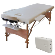 210cm L Portable Massage Table Facial SPA Bed Tattoo w/Free Carry Case White