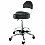 Ergonomic Design Hair Salon Stool with Footrest Ring