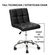 Esthetician Technician Stool TOTO BLACK Chair for Spa Salon Office