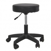 Salon Stool Hydraulic Tattoo Massage Facial Spa Stool Chair Black New by kwanchan