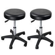 Eastmagic Tattoo Facial Spa Beauty Leather Hydraulic Massage Salon Stool X2 Black Chair