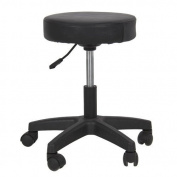 Eastmagic New Hydraulic Tattoo Salon Stool Massage Facial Spa Beauty Chair Black