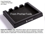"Kayline ""NEW"" BT-4 Barber Tray, Salon Clipper Organiser + Free YS Park L-Clips ($13 value) from ProHairTools"