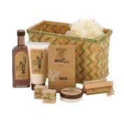 Koehler Home Organiser Eco-Nomy Shower Gel Lotion Scrub Bamboo Deluxe Bath Basket