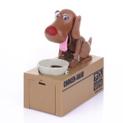 Just us Cute Dog Piggy Bank Robotic Coin Munching Toy Money Box Coin Bank for kids