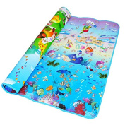 Blue Ocean + Animal Zoo Playmat Kids Gift Toy Children Carpet Outdoor Play Gym Rug