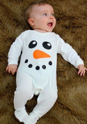 Cute Snowman Baby Sleepsuit / Christmas Baby Clothes/ Baby's First Christmas Outfit by BABY MOO'S