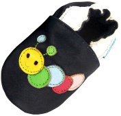 MiniFeet Soft Leather Baby Shoes, Curly the Caterpillar