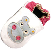 MiniFeet Soft Leather Baby Shoes, Harry the Hippo