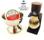 Mens Shaving Brush Boar Bristle Shaving Bowl with Shaving Soap ZEVA