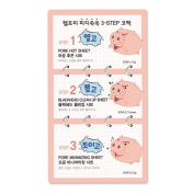 [TOSOWOONG] Help me 3-step blackhead nose pack/Nose cleansing strips[10PCS]