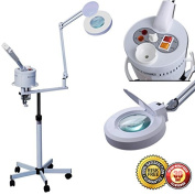 New Pro 2in1 Facial Steamer 5XMagnifying Lamp Hot Ozone Machine Spa Salon Beauty