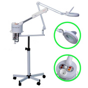 2 in 1 Facial Steamer 5x Magnifying Lamp Hot Ozone Machine Spa Salon Beauty Pro