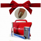 Nail Strips Yellow Zebra +Swisa Cuticle Oil+ A-viva Nail Kit - Buffer+Eco Nail File +Red Box