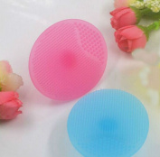 GBSTORE 4 Pcs Blue and Pink Silicone Brush Blackhead Remover Facial Cleansing Pad