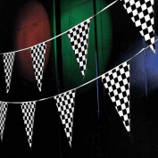 Tytroy Racing Pennant Flag Banners Black White Chequered Nascar Race Car Party Decor 30m