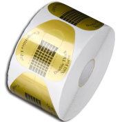 1Roll of 500pcs Form Golden Nail Art Tips Guide Sticker Extension Nails