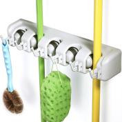 Brush Broom and Mop Holder Storage Tidy Organiser Wall Rack