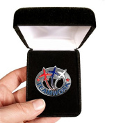 Velvet presentation Box - Teamwork Jets Lapel Pin