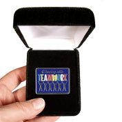 Velvet presentation Box - Winning with Teamwork Lapel Pin