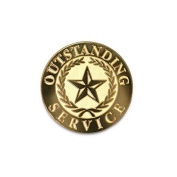 None - Outstanding service Lapel Pin