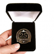 Velvet presentation Box - 25 Years of service Lapel Pin