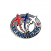 None - Teamwork Jets Lapel Pin