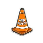 None - Safety Cone Lapel Pin