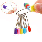 20 PCS Clothing Fastener Tool Mixed Coloured Baby Cloth Nappy Stainless Steel Safety Pin