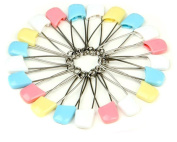 TuTu Pack of 100 Pcs Cloth Nappy Pins Stainless Steel Traditional Safety Pin