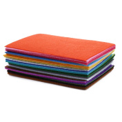 40pcs/lot Polyester Felt Fabric Cloth DIY Handmade Sewing Home Decor Material Thickness 1mm Mix 10CM15CM 3.9x5.8 inch -All U Need