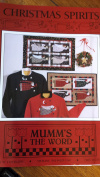 "Mumm's The Word ""Christmas Spirits""Holiday Quilt Sewing Pattern Wallhanging Santa Angel"