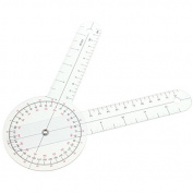 Pink Lizard Physio Clear Plastic Goniometer Angle Ruler Joint Bend Measure Measuring