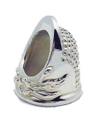 Roxanne Solid Sterling Silver Size 4 Thimble by Colonial Needle Co
