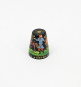 Russian Lacquer Hand Painted Thimble #1382 FAIRY TALE