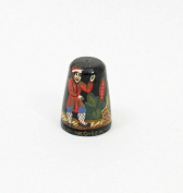 Russian Lacquer Hand Painted Thimble #1380 FAIRY TALE