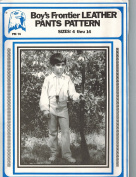 Eagle's View Patterns - Boy's Frontier Leather Pants Pattern