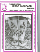Eagle's View Patterns - Plains Indian Hightop Moccasins Pattern