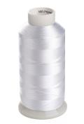 Sinbel Polyester Embroidery Under Thread White Colour Bottom Thread 5000 Metres Per Spool For Brother Babylock Janome Singer Pfaff Husqvaran Bernina Machines