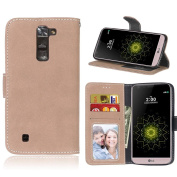 LG Tribute 5 Case, LG K7 Wallet Case, NOKEA Leather [Wallet Case] [Flip Fit] Premium PU Card-Slots Cash-Slots & Kickstand [Anti-Scratches] Protective Case for LG Tribute 5 / LG K7
