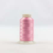 WonderFil Invisafil Specialty Thread, 2-Ply Cottonized Soft Polyester, 100wt - Perfectly Pink, 2500m