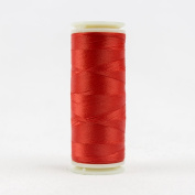 WonderFil Invisafil Specialty Thread, 2-Ply Cottonized Soft Polyester, 100wt - Red, 400m