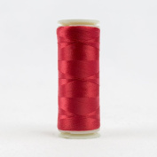 WonderFil Invisafil Specialty Thread, 2-Ply Cottonized Soft Polyester, 100wt - Christmas Red, 400m