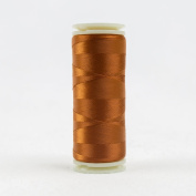 WonderFil Invisafil Specialty Thread, 2-Ply Cottonized Soft Polyester, 100wt - Rust, 400m