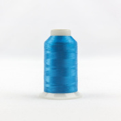 WonderFil Invisafil Specialty Thread, 2-Ply Cottonized Soft Polyester, 100wt - Teal, 2500m