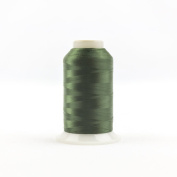 WonderFil Invisafil Specialty Thread, 2-Ply Cottonized Soft Polyester, 100wt - Hunter Green, 2500m