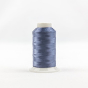 WonderFil Invisafil Specialty Thread, 2-Ply Cottonized Soft Polyester, 100wt - Stormy Dark Blue, 2500m