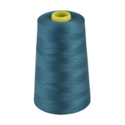 MARKETPLACE MAYHEM Overlocking Thread - Overlocker Thread - Polyester Thread - Industrial Sewing Thread - 4 X 5000 Yard Spools Blue
