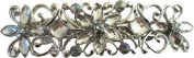 Silver Double Butterfly Crystal Metal Hair Barrette IN4224