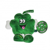 10Cm Sean the Shamrock Irish Designed Soft Toy, Green In Colour